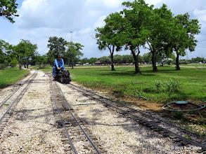 Photo: Doug Blodgett waiting for the next train.  He will ride beside it.     HALS Public Run Day 2015-0516 RPW
