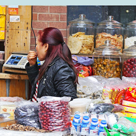 The Candy Shop by Joatan Berbel - People Portraits of Men ( colorful, candy, woman, people, chinese )