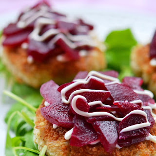 Seafood Sliders with Pickled Beets & Baby Arugula – #FishFridayFoodies