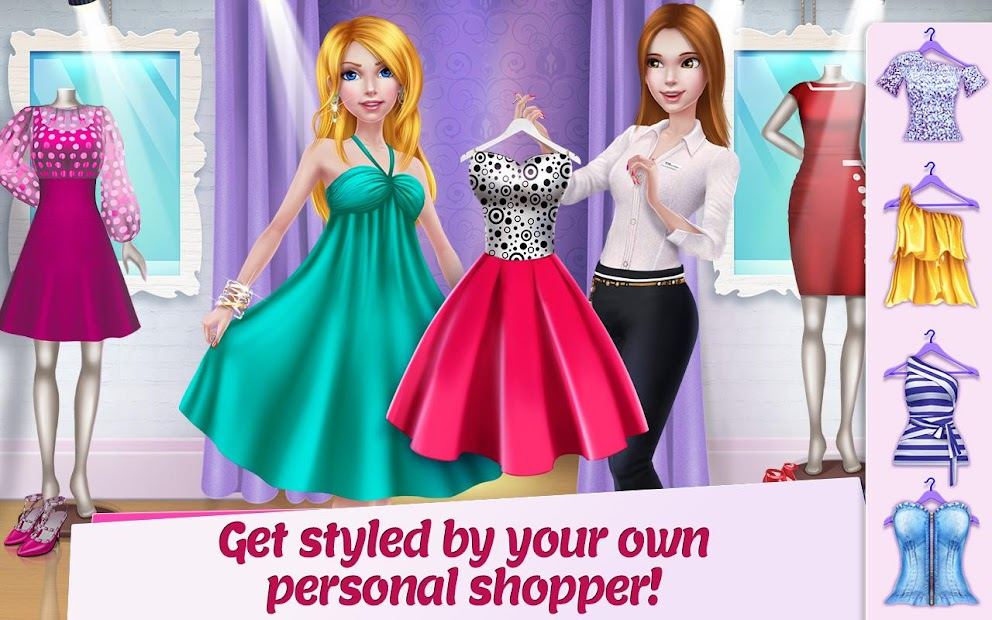 Shopping Mall Girl - Dress Up & Style Game Android App Screenshot
