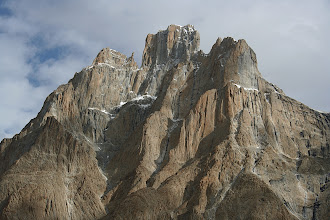 Photo: The Trango Castle (5753m), taken from Khubortse, our first camp on the Baltoro Glacier.