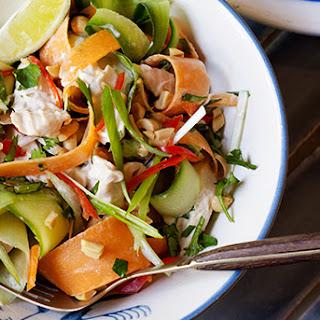 Quick Thai poached chicken salad