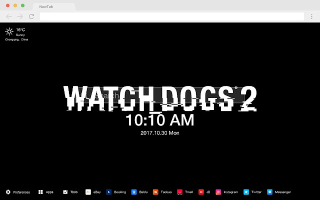 Watch_Dogs2 Pop HD Games New Tabs Theme