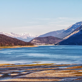 Medicine Lake by Margie Troyer - Landscapes Waterscapes