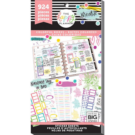 Me & My Big Ideas Happy Planner Sticker Value Pack - Colorful Boxes 924