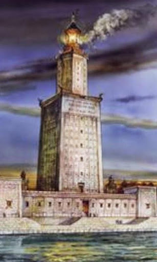 アレクサンドリアの壁紙の灯台