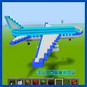 Airplane of Mine Block Craft icon