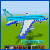 Airplane of Mine Block Craft
