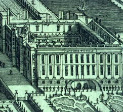 Photo: Engraving of Chatsworth (detail), Kip and Knyff, 1699.