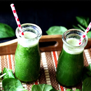 Spinach, Pineapple, and Banana Smoothies.