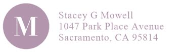 Stacey Mowell - Address Label template