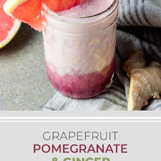 Grapefruit, Pomegranate & Ginger Smoothie.