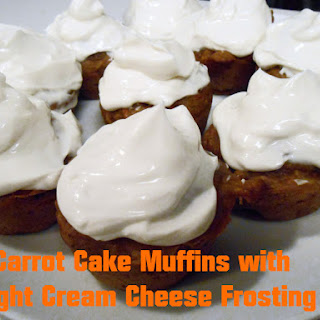 Carrot Cake Muffins with Light Cream Cheese Frosting