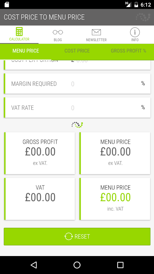 Gross Profit Calculator- screenshot