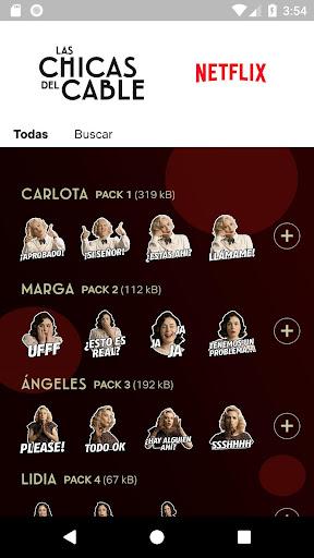 Stickers Las Chicas del Cable screenshot 3