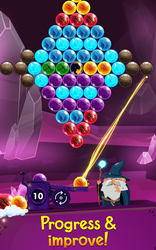 Bubble Shooter: Bubble Wizard, match 3 bubble game apkmr screenshots 3