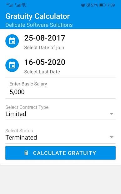 Gratuity Calculator UAE