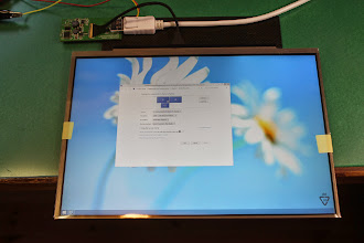 Photo: Windows 8.1 with the panel connected to my desktop PC