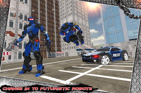 Multi Police Rhino Robotic Car vs Evil Robots apk screenshot
