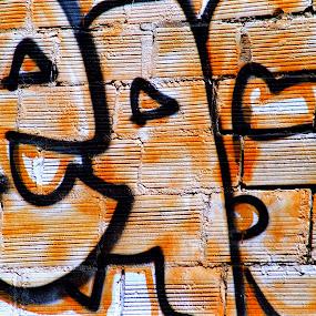 CEASE by Craig Pifer - City,  Street & Park  Neighborhoods ( sign, oregon, graffiti, street art, paint, downtown )
