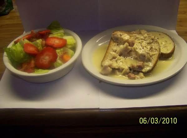 Creamed Chicken On Toast