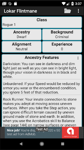 Second Edition Character Sheet 0.97f screenshots 5