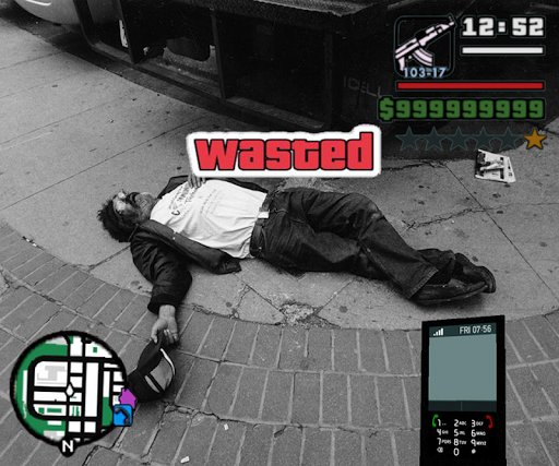 Wasted Photo Maker: Grand Theft Gangster Sticker 1.02 screenshots 1