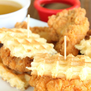 Chicken and Waffle Sliders with Buttermilk Syrup