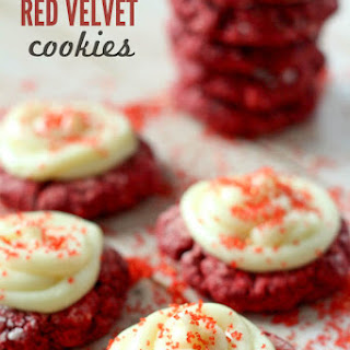 Gooey Red Velvet Cookies