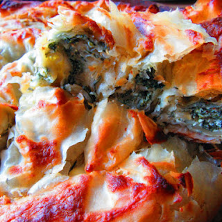 Filo Pie With Nettles And Yoghurt.