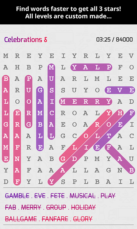 Super Word Search Game Puzzle App- screenshot