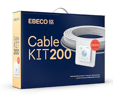 Ebeco Cable Kit 200 1380W / 124m (8,6-18,3 m²)