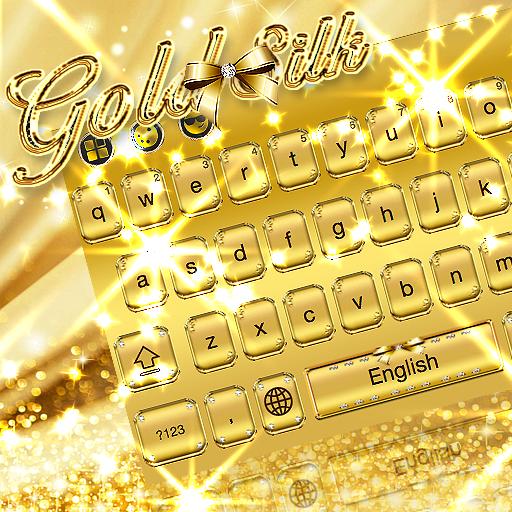 Gold Silk Keyboard Theme