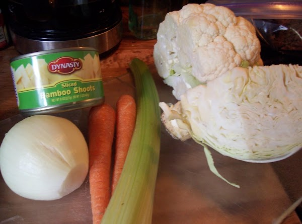 Chop up all all vegetables into bite sized pieces. Heat a large skillet or...