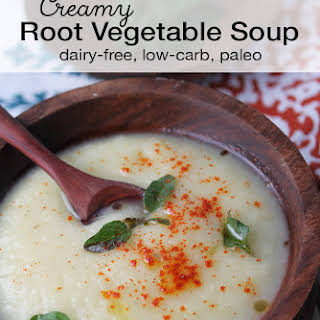 Creamy Root Vegetable Soup.