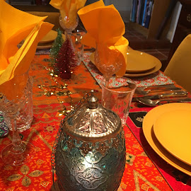 Christmas Morroccan Style by Dawn Simpson - Public Holidays Christmas ( orange, lamps, holidays, morroccan, festivities, colourful, christmas,  )