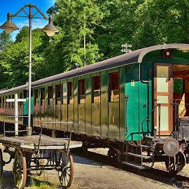 Anno 1900 by Marco Bertamé - Transportation Trains ( fond-de-gras, lasauvage, green, wagon, train 1900, luxembourg,  )