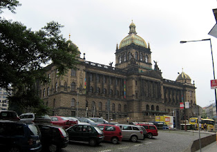 Photo: The National Museum at the top of Wenceslas Square