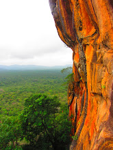 Photo: More pretty colors to be seem walking down the side of Sigiriya.