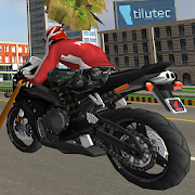 Superhero 3D Vegas City Ride - Moto Racing Fight