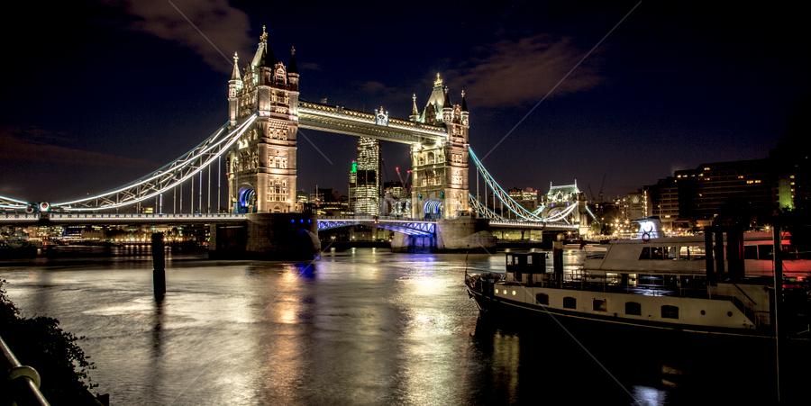 Tower bridge by Peter Wyatt - Buildings & Architecture Bridges & Suspended Structures ( london, towerbridge, night, suspensionbridge, riverthames,  )