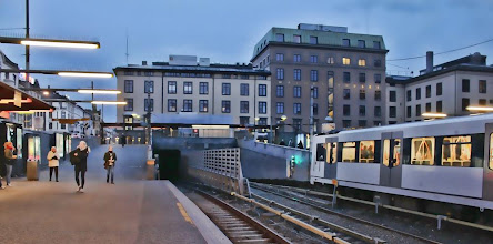 Photo: Day 114 / April 23, 2012 Oslo Station Night  人通りの少ない夕方のMajorstuen駅 #creative366project