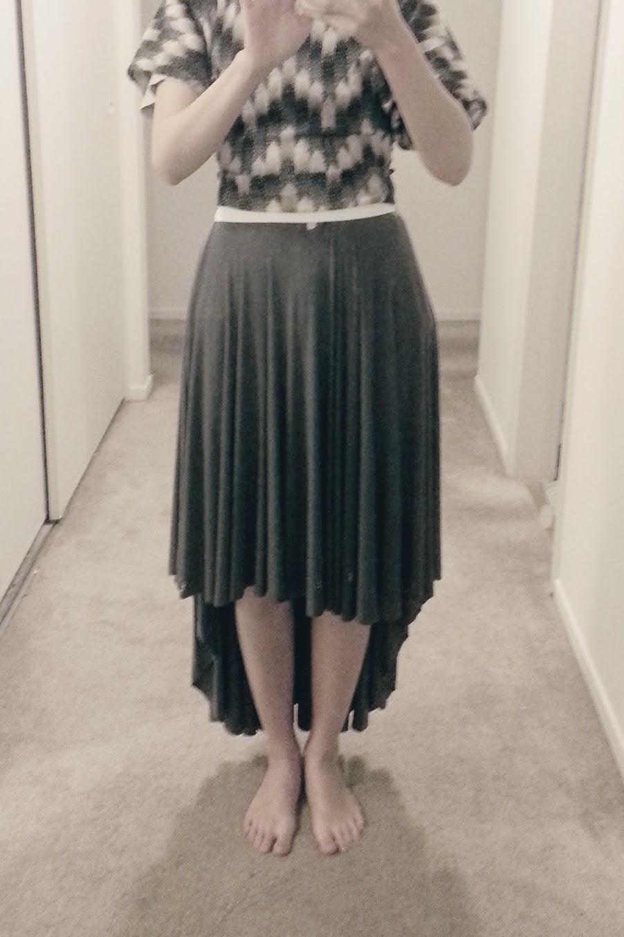 In-Progress: High-Low Circle Skirt Dress - DIY Fashion Garments | fafafoom.com
