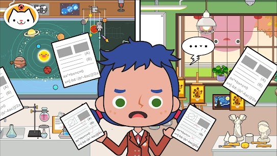 Miga Town: My School MOD (Unlock All Map Characters) 4