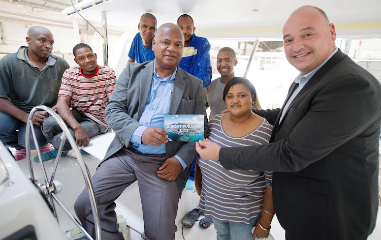 Cape Town mayor Dan Plato meets staff at Voyage Yachts.