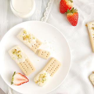White Chocolate Pistachio Shortbreads