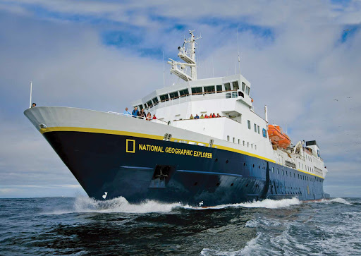 National-Geographic-Explorer-at-sea.jpg -  National Geographic Explorer accommodates up to 148 passengers on explorations of the Arctic, Antarctica, British Isles, Canada, Patagonia and South America.
