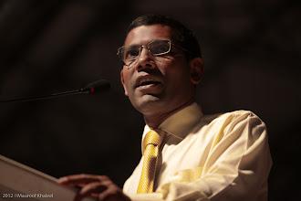 Photo: President Nasheed MDP Rally at Artificial Beach 13 Feb 2012