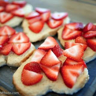 Heart Shaped Strawberry Stuffed French Toast