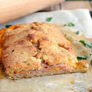 Ham and Cheese Keto Stromboli.